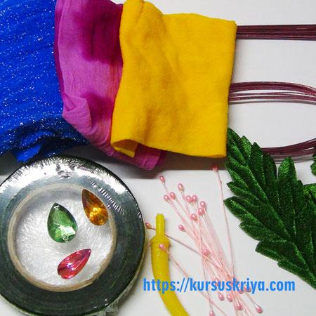10 Bahan Untuk Membuat Bunga Stocking Kursus Kriya
